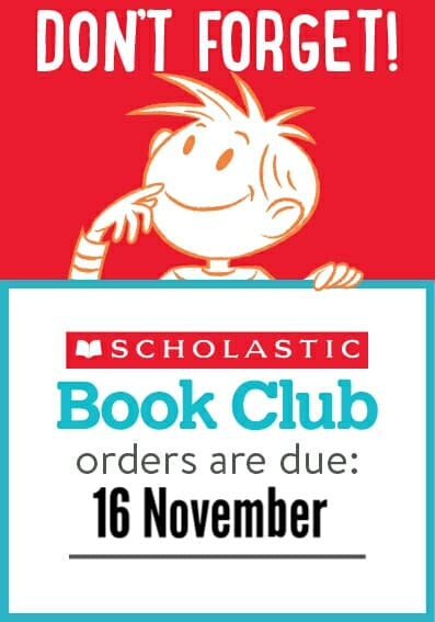 Book Club Order Due 16 November