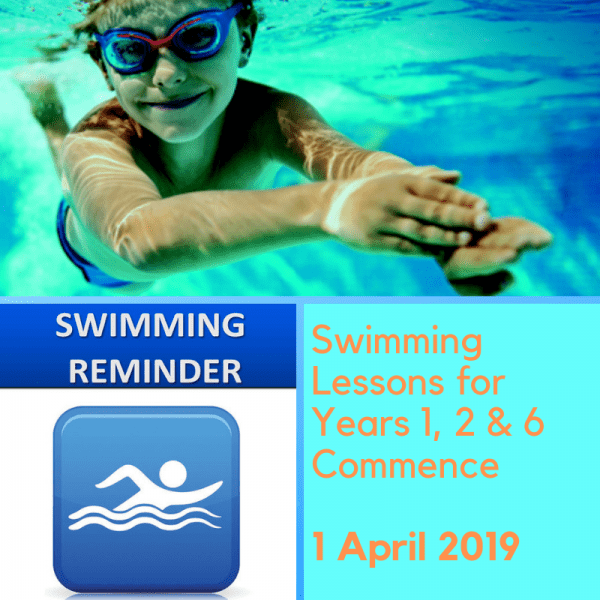 Campbell Primary School Swimming Lessons Reminder