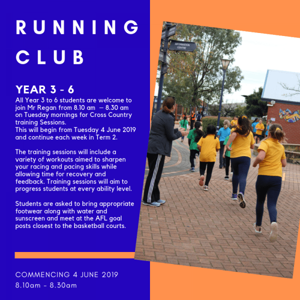 Running Club Campbell Primary School