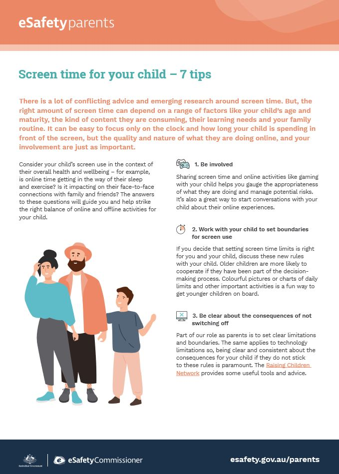 Campbell Primary School Screen Time Tips