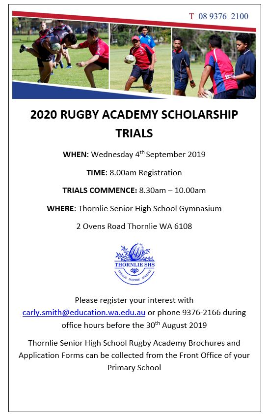 2020 Rugby Trials Thornlie SHS