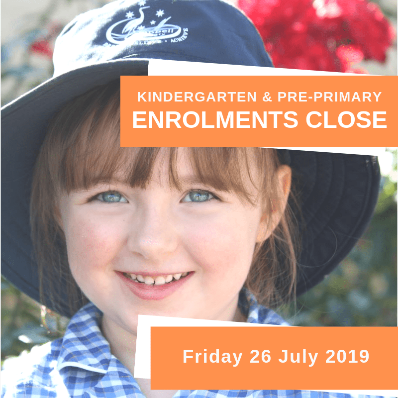 Kindergarten Pre-primary enrolments closing