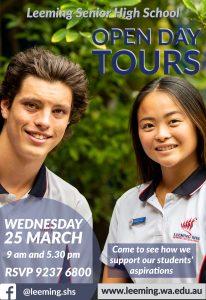 Leeming SHS School Tours