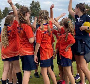 Campbell Primary School Girls Footy Team