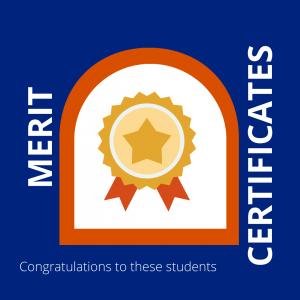 Campbell Primary School Merit Certificates