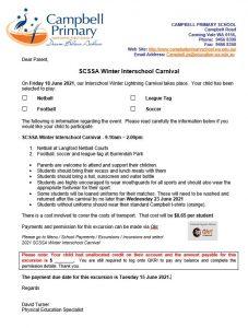 Winter Carnival CPS Letter